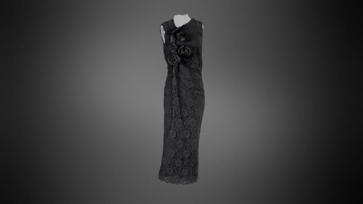 Comme des Garcons Sleeveless Black Lace Dress
