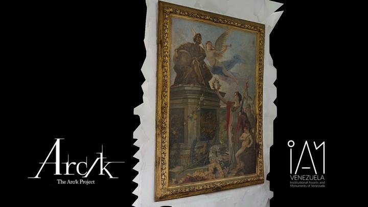 Pintura Alegorica de Cristóbal Colón (con entorno)